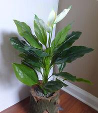 "20"" Tall Artificial White Flower Bush 24 leaves Plants"