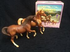 Vintage Breyer Classic Arabian Family with Box.  Foal is missing No. 3055