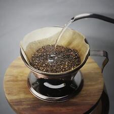 Bronze Metal Coffee Filter Cup Cone Drip Dripper Cafe Maker Holder Brewer