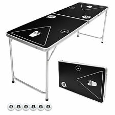 GoPong 6FT Beer Pong Party Game Drinking Table Indoor Outdoor Foldable Portable