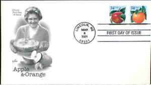 (1wp) FDC 3492a Apple & Orange - Artcraft