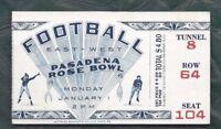 1945 Rose Bowl football ticket stub USC Trojans v Tennessee Volunteers 8 64 104