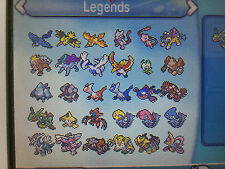 All 54 Legendary Pokemon Shiny Omega Ruby Alpha Sapphire ORAS Ultra Sun Moon 3DS