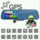 TOGUARD FULL HD ANDROID GPS DUAL LENS REAR VIEW MIRROR DASH CAMERA