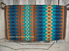 Teal Details about  /Navaho Style Horse Saddle Pad with Felt Bottom 30x32 Rust Dk Red Brw Bk