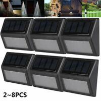 Outdoor Waterproof Solar Light Garden Step Wall Lamp Dusk-to-Dawn Keep Lighting