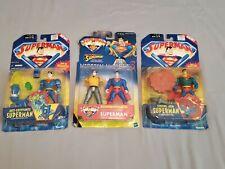 2001 Hasbro Superman Action Figures, Lot of 3 Unopened, Original Packaging