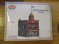 Model Power HO Scale Meadowbrook Bank Kit to Build # 448 Sealed Free ship!