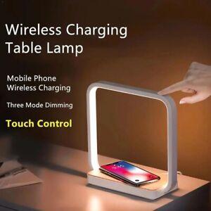 LED Tischlampe Schreibtisch-lampe Dimmbar Touch Nachttischlampe Wireless Charger