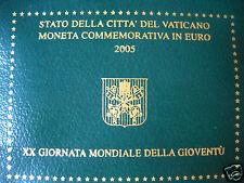 manueduc  Vaticano 2005  2 EUROS  CARTERA OFICIAL  AÑO MUNDIAL DE LA JUVENTUD