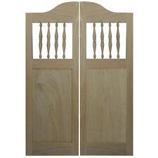 """CUSTOM SWINGING OAK WOOD CABINET SHAKER CAFE SALOON DOORS 36""""-42"""" W/HD KITCHEN"""