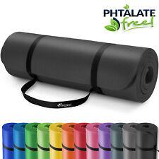 Yogamatte Fitnessmatte Gymnastikmatte Pilates Bodenmatte 185x60x1,5cm Schwarz