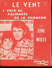 LINE ET WILLY partition musicale LE VENT