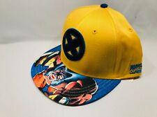 MARVEL X-MEN WOLVERINE MEN'S YELLOW & BLUE SNAPBACK HAT CAP
