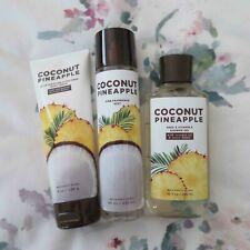 Bath and Body Works - COCONUT PINEAPPLE Body Cream, Shower Gel, Mist NEW