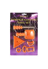 Spooky Halloween Calabaza Talla Kit de 9 Conjunto de Herramientas Sierra de póquer Scoop conjunto de Carver