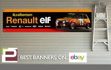 Renault 5 rallye voiture garage bannière pour atelier/garage, rétro, elf, calberson