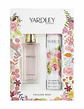 Yardley London English Rose Edt 50ml y Body Spray 75ml Conjunto de Regalo