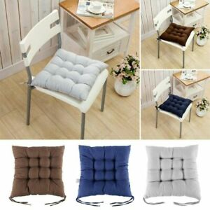 1 Pcs Tie On Seat Pads Dining Kitchen Patio Home Office Chair Cushions~