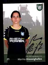 Marina Himmighofen Autogrammkarte FCR Duisburg 2011-12 Original Signier+A 170289