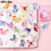Label Colorful Paper Sticker Butterfly Stickers Scrapbooking Lovely Adhesive
