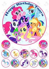 My little Pony Edible Cake Image Topper PERSONALISED PLUS  12 cupcake toppers