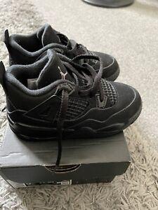 Jordan 4 Retro TD Black Infant Uk 8.5