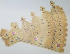 Burger King Crown Paper Hat party 10 PACK Usa Collectible BK B K 2014