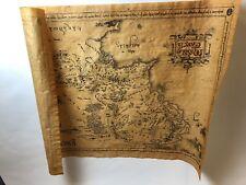 New Line Cinema Karte von Mittelerde Pergament HERR DER RINGE hobbit Tolkien RAR