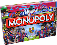 Monopoly OFFICIAL FC BARCELONA Football Soccer Board Game Messi Suarez Neymar