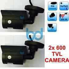 2x Outdoor CCTV Security Colour Camera Waterproof IR Night Vision Surveillance