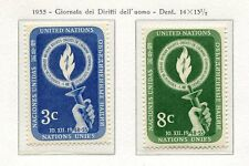 19016) UNITED NATIONS (New York) 1955 MNH** Nuovi** Human Rights