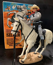 LONE RANGER Figurine & SILVER the Horse in Original Box 1970's Gabriel Toy RARE