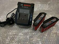 Bosch 18v Battery Starter Set 2 x Lithium Batteries + Charger