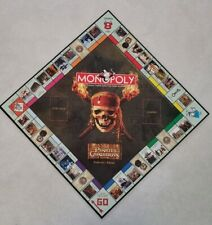 2006 Pirates of the Caribbean Monopoly Replacement Game Board Jack Sparrow