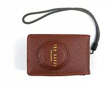 TED BAKER LEATHER DIGITAL CAMERA CASE BROWN NEW