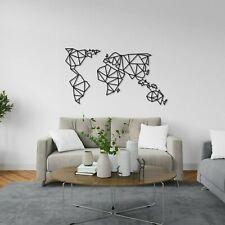 KESTEX XL Wandbild WELTKARTE ★ 66 x 85 cm ★ WAND DEKO Geometrische Metallkunst