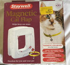 Staywell Magnetic Cat Flap W/Magnetic Collar Key And Collar