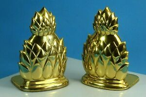Beautiful Brass Pineapple Bookends.
