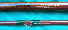 """VINTAGE """"NEVER FISHED"""" WALTON POWELL DF 85 FLY ROD 5/6/7 wt. COMPLETE W/ 2 TIPS"""
