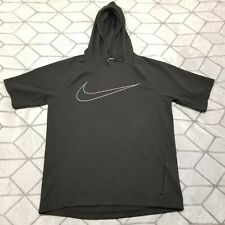 A1 Sz S Rare🔥 Nike Men's City Short Sleeve Running Hoodie Shirt 845538-010 $90