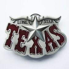 NEW LONE STAR STATE TEXAS BELT BUCKLE COWBOY REDEO WESTERN