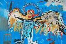 "DAVID ALDUS ORIGINAL ""Before his Time"" Jean-Michel Basquiat rendition PAINTING"