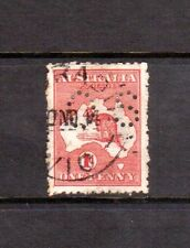 AUSTRALIA 1913 OB61 1d red used perf OS