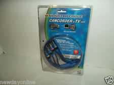 """Monster 6 Ft. Camcorder A/V Mini Jack To TV/VCR RCA Cable 1/8"""" 16-3880 NEW"""