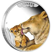 2014 50c Mother's Love Lioness 1/2oz Silver Proof Coin