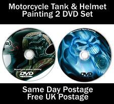 Custom Paint Motorcycle Helmet & Tank Airbrush 2 DVD Set *