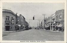 Postcard North Carolina Rockingham County Reidsville Business Center 1940s