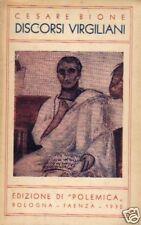 Cesare Bione # DISCORSI VIRGILIANI # Ed. Polemica 1932