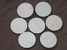 25 x Wooden Circle Base Craft Shape Wargame Bases Embellishments  50mm x 4mm
